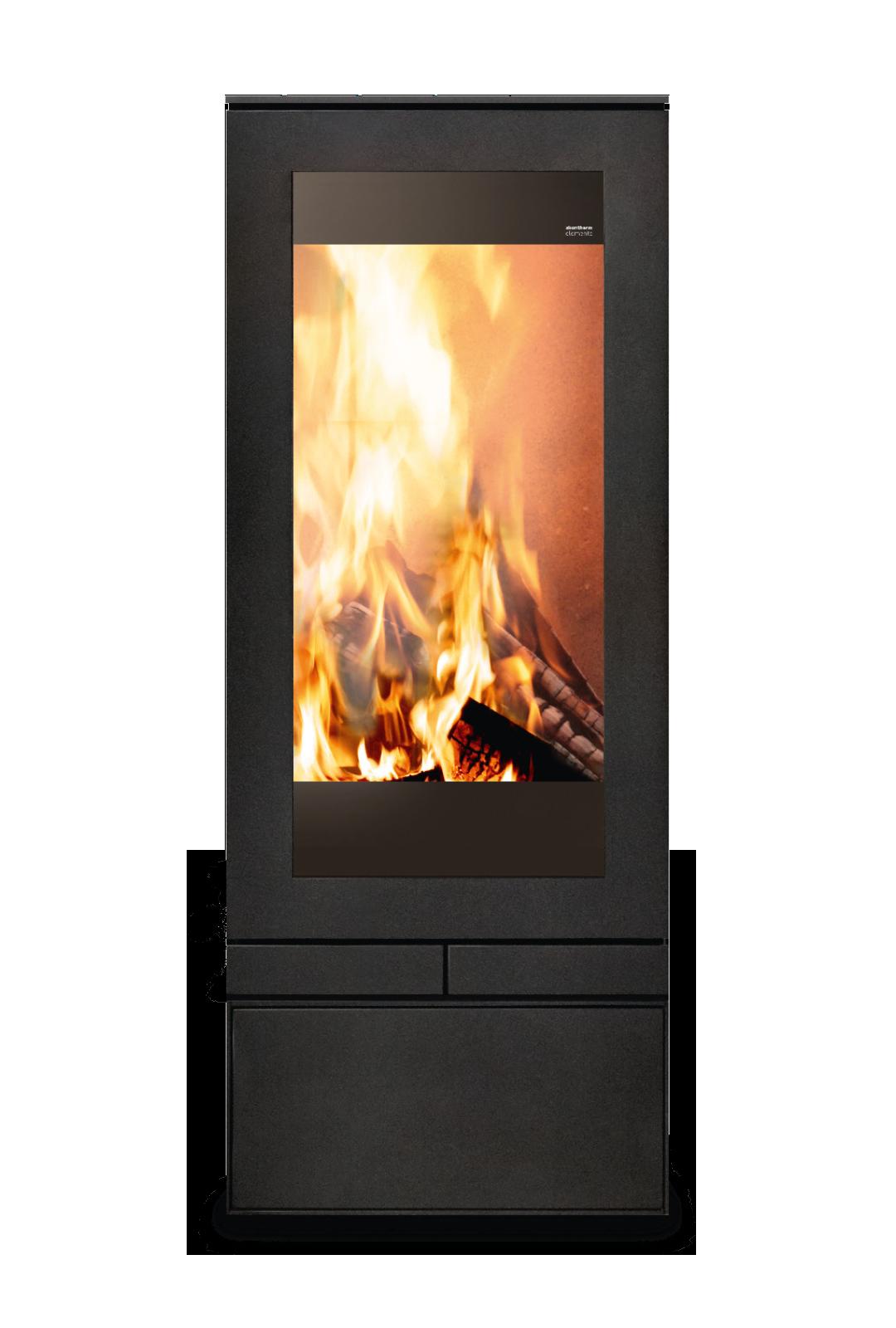 Poêle cheminée ELEMENTS 400 FRONT Skantherm ® - Feu Design - Toulon - Marseille